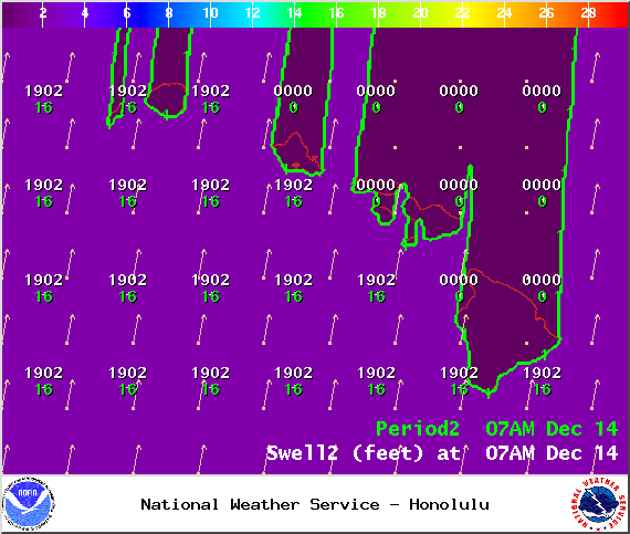 Sunday 7 a.m. - Image: NOAA / NWS