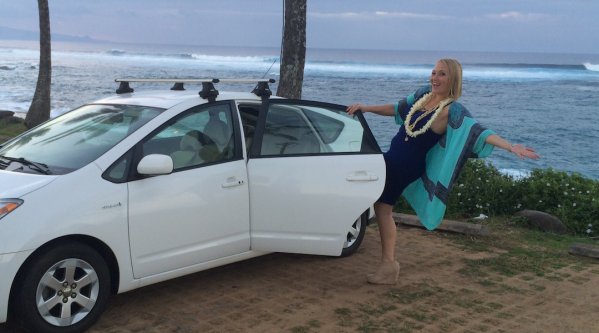 """Anuhea is Uber Maui """"Rider Zero"""".  Photo courtesy Uber."""