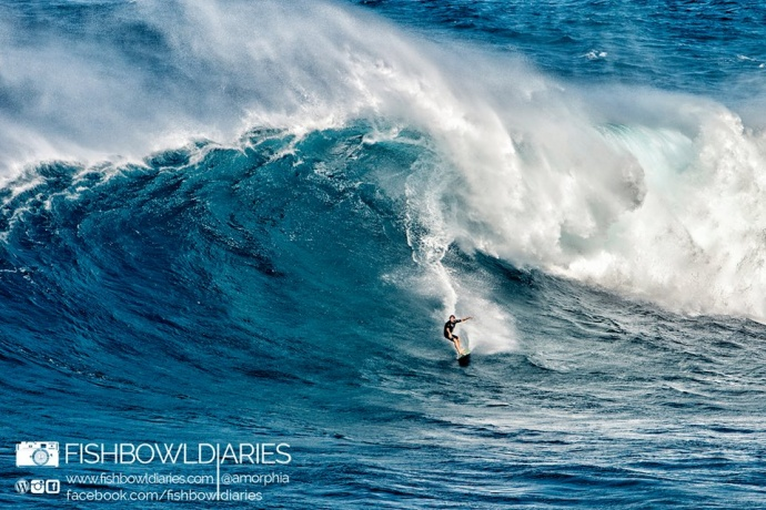 DK Walsh at Peahi (Jaws) 12/7/14 - Image: Sofie Louca / Fish Bowl Diaries