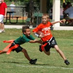 The new Maui Flag Football League is still signing up interested players from third grade through 12th grade. The nine-week season officially kicks off on Saturday, Dec. 6. Photo www.5v5flag.com