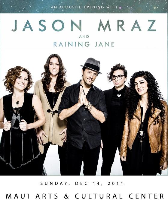 Jason Mraz event poster, courtesy Maui Arts & Cultural Center.