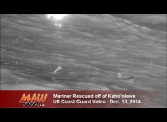 Kahoʻolawe rescue. Image courtesy US Coast Guard, Hawaiʻi.