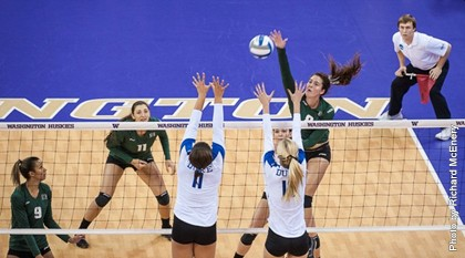 Hawaii swept Duke in its NCAA first-round match Friday in Seattle, Wash. Photo by Richard McEnery.