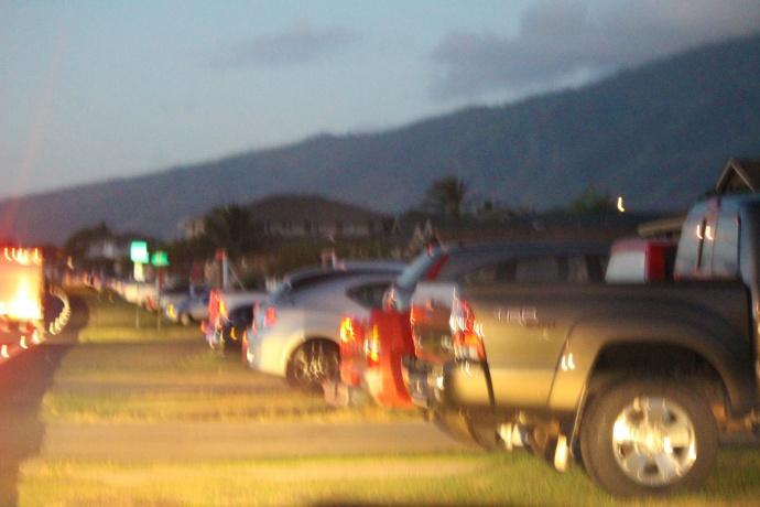 Overnight parking. Maui Now photo.