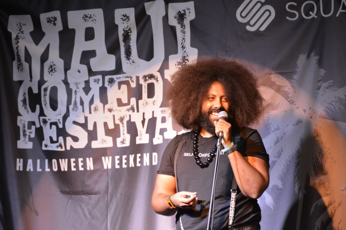 Comedian Reggie Watts. Photo by Malika Dudley.