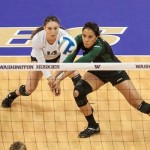 Huskies Eliminate Rainbow Wahine in Four Sets