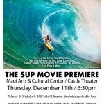 The SUP Movie. Event flyer.