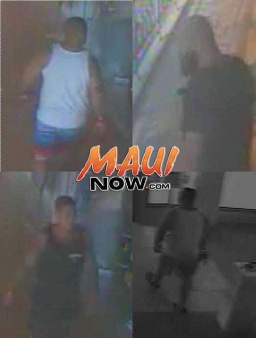 Surveillance photos courtesy Maui Police.