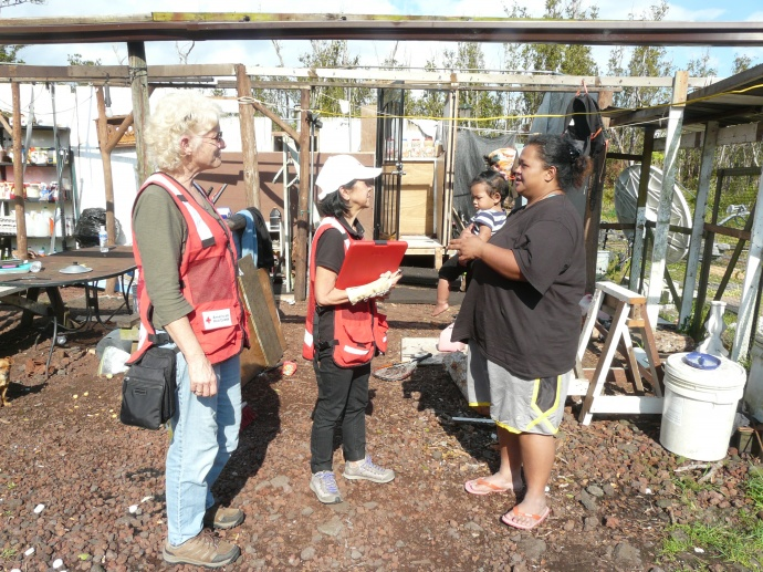 Red Cross responds to wind storm damage victims. Courtesy photo.