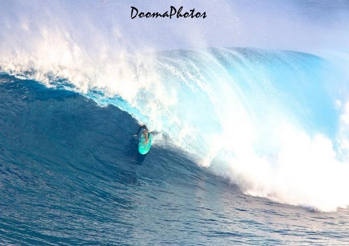 "Paige Alms at Pe'ahi ""Jaws"" 1.22.15 / Image: Dooma Photos"