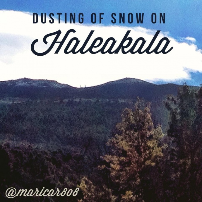 Haleakalā snow 1/3/15 - Image: Maricar Lagman Amuro