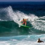 Megan Abubo Surfing Ho'okipa / Image: Jimmie Hepp