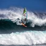Kevin Pritchard windsurfing at Ho'okipa 1.26.15 / Image: Jimmie Hepp