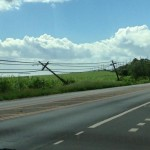 """Leaning and cracked utility pole across from Maui Tropical Plantation on Honoapiilani Highway"" 1/3/15 - Image: Robert Anthony Medina"