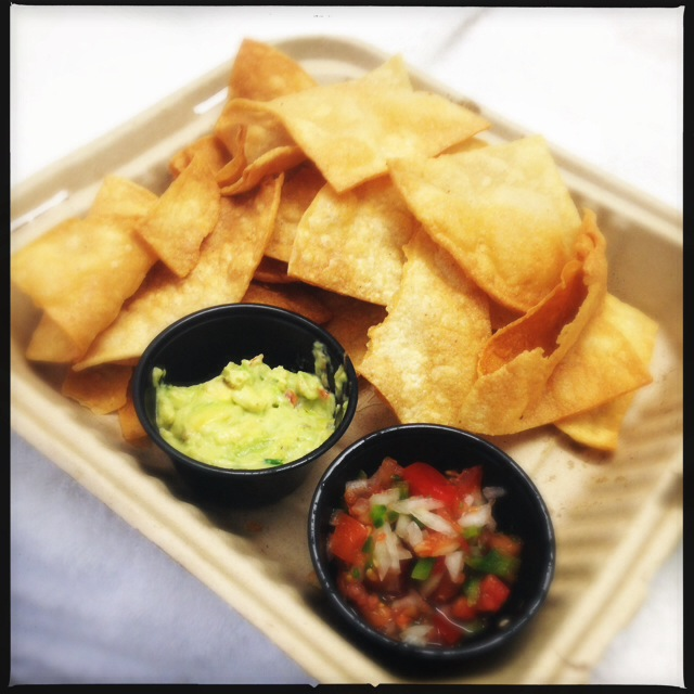 The Homemade Tortilla Chips. Photo by Vanessa Wolf