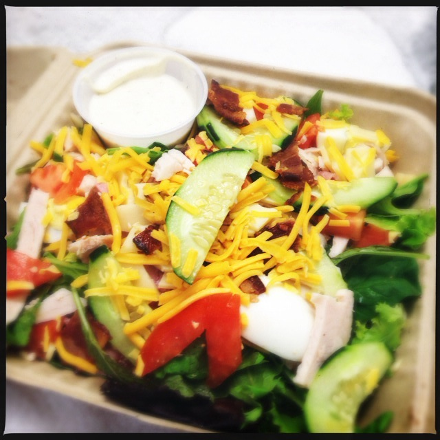 The Chopped Salad is as close to a Cobb as you'll find here. Photo by Vanessa Wolf
