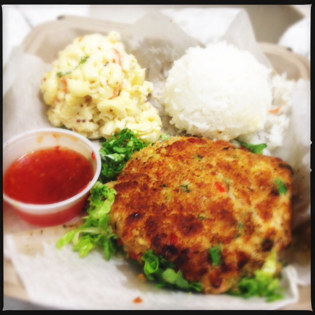 Get a hold of yourselves, Ladies! Straight from the deep, sultry oceans to your hungry mouths, it's the Crab Cake Platter. Photo by Vanessa Wolf