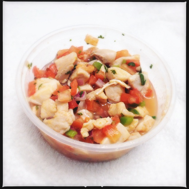 The Fresh Fish Ceviche is a slam dunk choice. BYOTortilla Chips. Photo by Vanessa Wolf