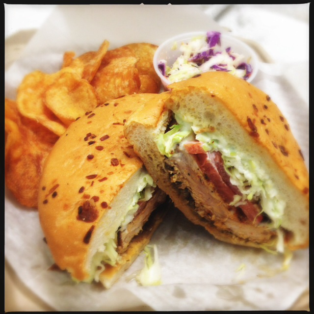 The Seared Ahi Sandwich. Photo by Vanessa Wolf