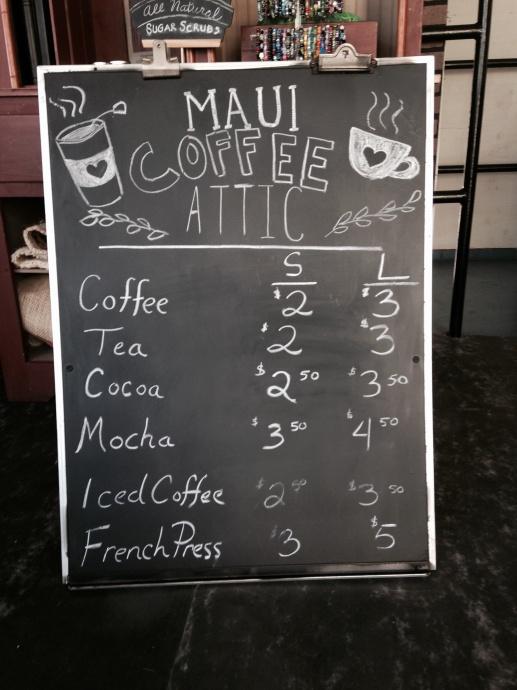 coffee attic menu