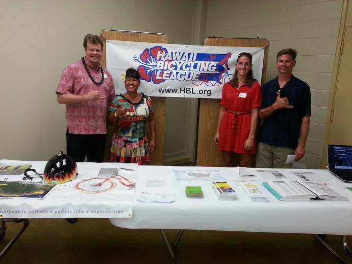 Maui Bicycling League, Rep Angus McKelvey, Councilmember Elle Cochran. Courtesy photo.