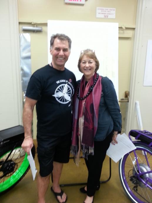 Maui Bicycling League and Sen. Roz Baker. Courtesy photo.