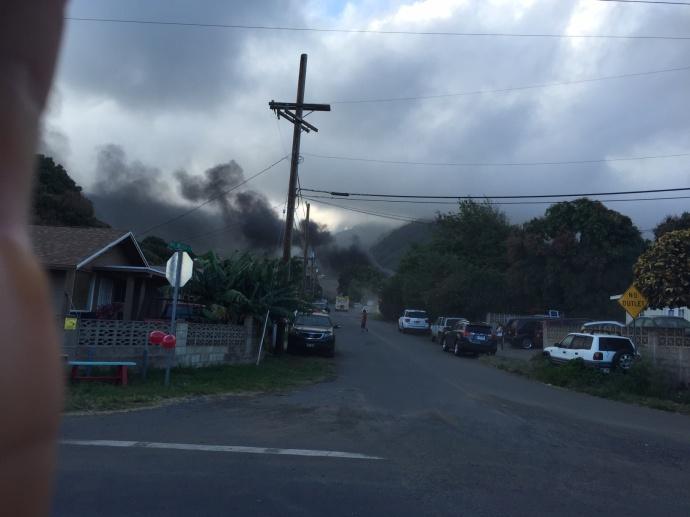 waikapu fire  courtesy of Jeff Onderko.