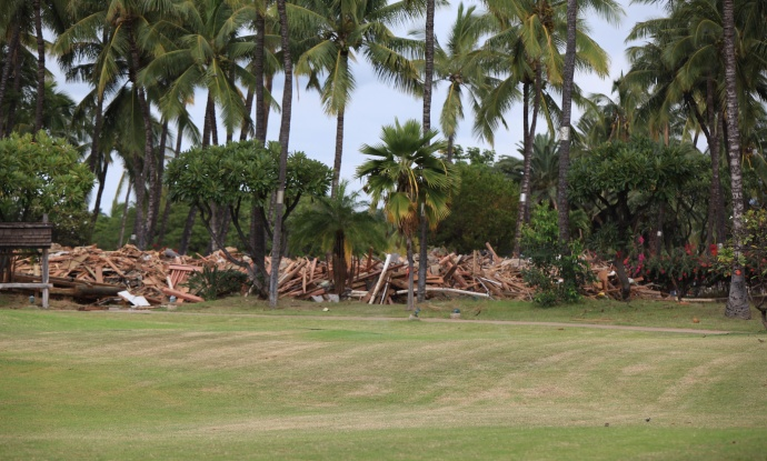 Maui Lu demolition looking at the old Church/Longhouse area. Photo credit courtesy: Kevin J. Olson.