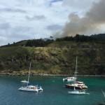 VIDEO: Brush Fire Mauka of Honolua Bay Burns 2 Acres