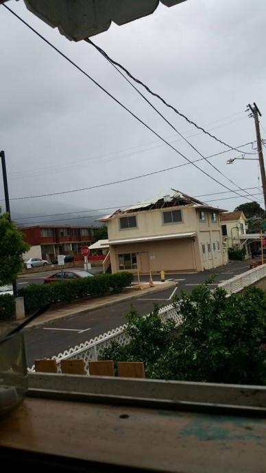 Valentine's Day storm damage Maui, 2/14/15.  Photo credit: Jailanie Valera-Canonizado Gonzales.