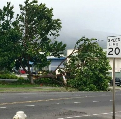 corner of Kala Street and Wili Pa Loop, Wailuku, just before 11 a.m. 2/14/15. Photo Courtesy John John Pascua.