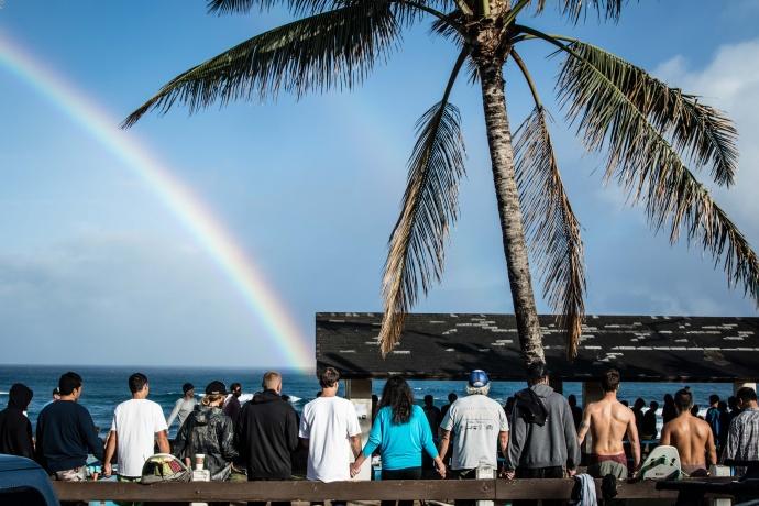 Hoʻokipa memorial for Johannes. Photo courtesy Marc Chambers.