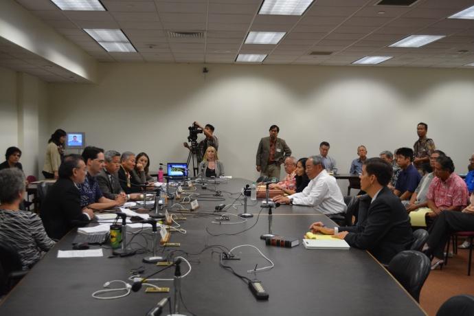 House residency hearing. Photo courtesy: Hawaiʻi House of Representatives - Majority.