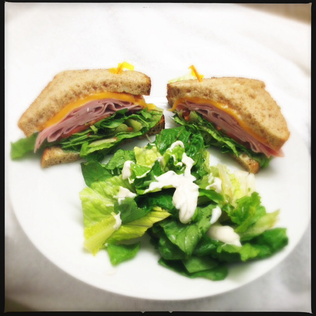The Ham and Cheese sandwich is just that. Photo by Vanessa Wolf
