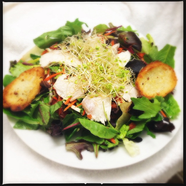 The Catch of the Day (Mahi) Salad. Photo by Vanessa Wolf