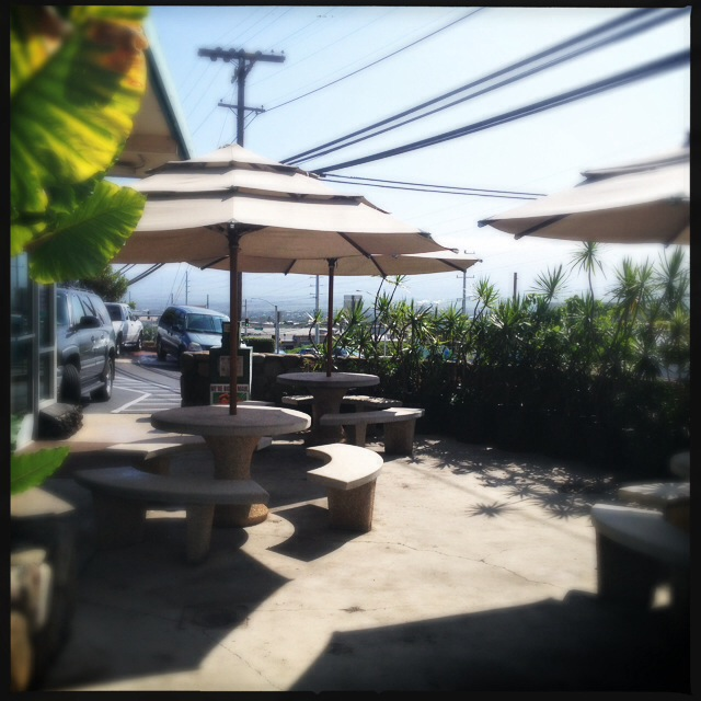 The cafe offers some nice outdoor seating. Photo by Vanessa Wolf