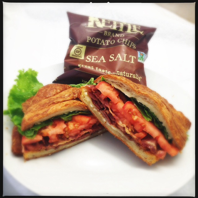 The BLT Croissant. That sound you don't hear? Your own heartbeat. Photo by Vanessa Wolf