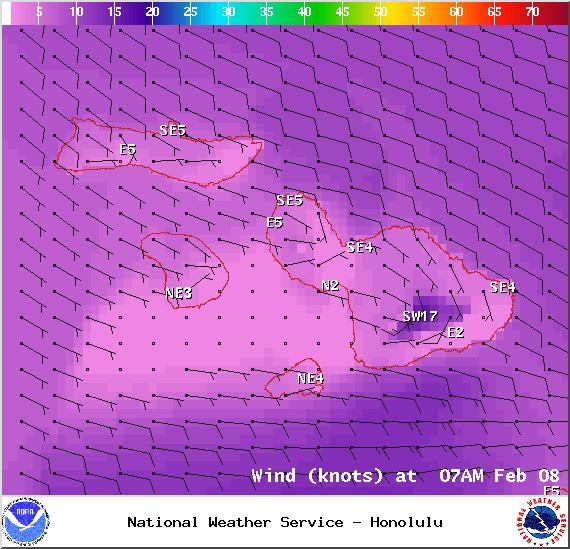 Sunday chart / Image: NOAA / NWS
