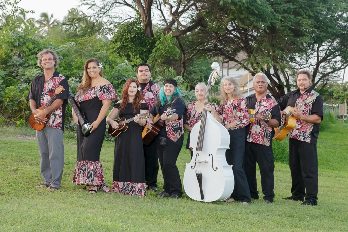 Students of UHMC's Institute of Hawaiian Music. Photo courtesy University of Hawaiʻi Maui College.