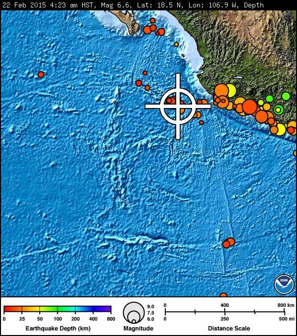 Mexico earthquake, 2/22/15. Image courtesy Pacific Tsunami Warning Center.