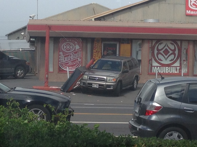 Photo of sign down at Maui Built.  Photo courtesy: Aimee Etterling.