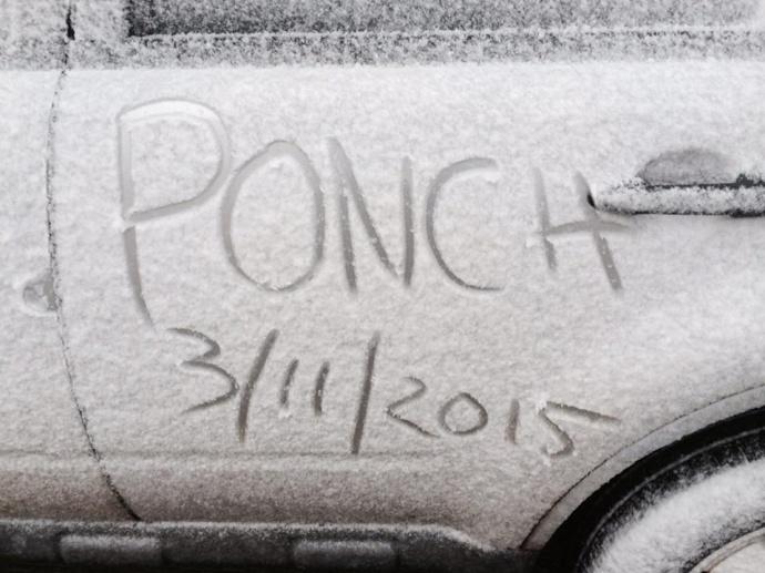 Snow on Halekalā at 7:30 a.m. / Image: Poncho Pantorilla