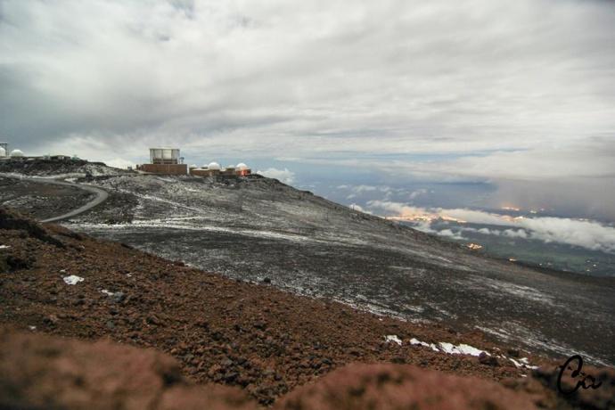Snow on Haleakalā 3.4.15 / Image: Chaz Antonio