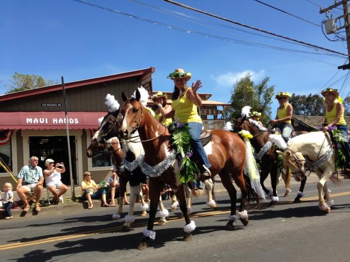 Makawao Paniolo Parade 2013. Photo credit Debra Lordan.