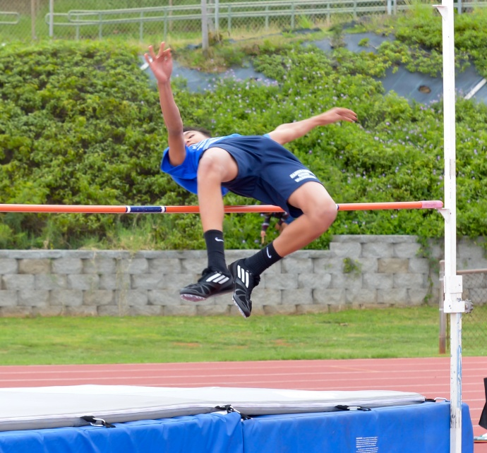 High Jump — 1. Jake Krost, Seabury Hall, 5-2; 2. Kamalua Segundo, Kamehameha, 5-1;