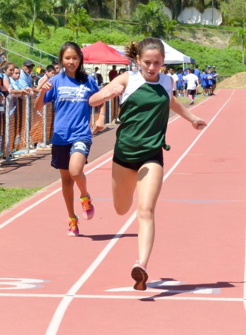 Heat 2, 1. Kathryn Jacinto, Maui Prep, 32.58,