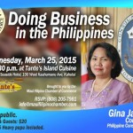 Consulate General to Discuss 'Doing Business in the Philippines'