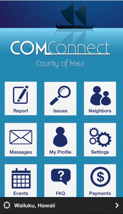 County of Maui Connect app.