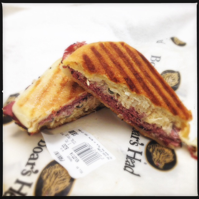 The Reuben isn't made on rye and includes capers, but don't let that stop you. Photo by Vanessa Wolf