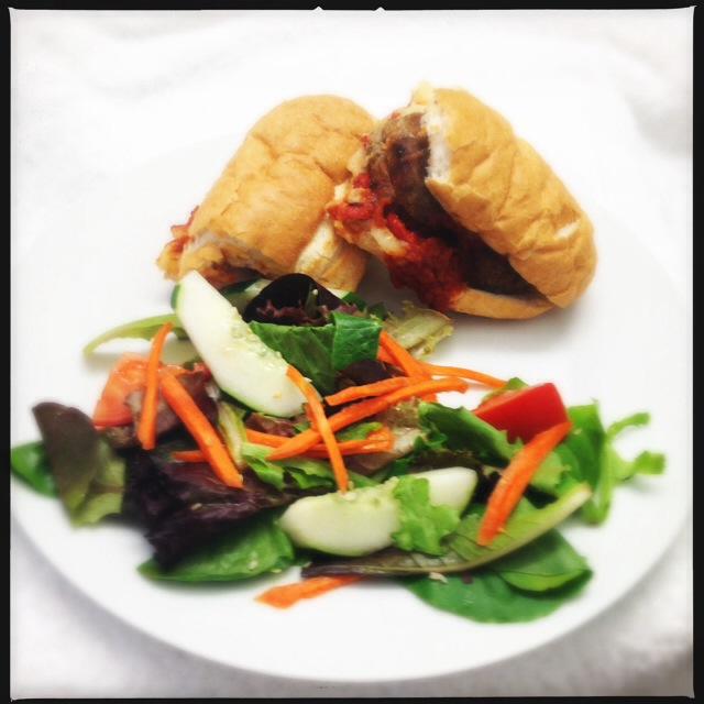 The Salsiccia Di Pollo sandwich does a mean Meatball Sub impersonation. Photo by Vanessa Wolf